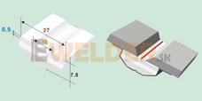 Keramická podložka plochá 10 mm samolepiaca