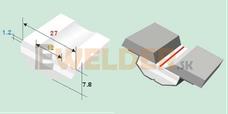 Keramická podložka plochá 12 mm samolepiaca