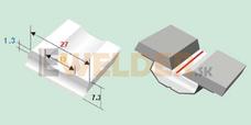 Keramická podložka plochá 13 mm samolepiaca