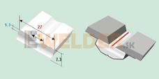 Keramická podložka plochá 9 mm samolepiaca